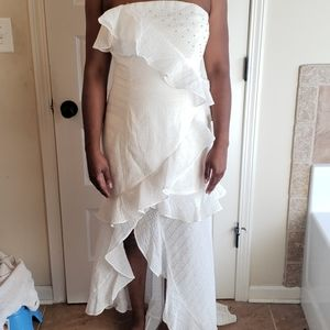 C/Meo Collective ivory hi Low maxi gown sz XL